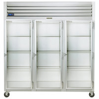 Traulsen G32012-032 76 1/4 inch G Series Glass Door Reach-In Refrigerator with Right Hinged Doors