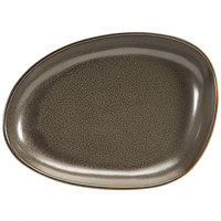 Front of the House DSP032ESP23 Kiln 8 inch x 6 inch Mocha Porcelain Oval Plate - 12/Case