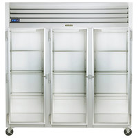 Traulsen G32011-032 76 1/4 inch G Series Glass Door Reach-In Refrigerator with Left / Left / Right Hinged Doors