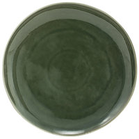 Front of the House DOS029GRP22 Kiln 11 inch Leek Round Porcelain Plate - 6/Case
