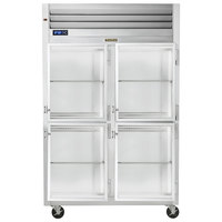 Traulsen G21002-032 52 inch G Series Glass Half Door Reach-In Refrigerator with Right / Right Hinged Doors