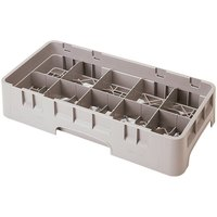 Cambro 10HS800184 Beige Camrack 10 Compartment 8 1/2 inch Half Size Glass Rack