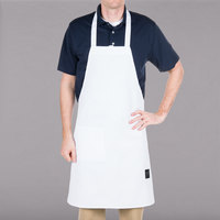 Chef Revival 601BAC-WH Customizable Full-Length White Bib Apron - 34 inchL x 28 inchW