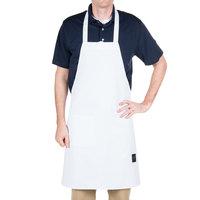 Chef Revival 601BAC-WH Customizable Full-Length White Bib Apron - 34 inchL x 28 inchW
