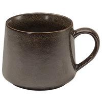 Front of the House DCS046ESP23 Kiln 10 oz. Mocha Porcelain Cup - 12/Case