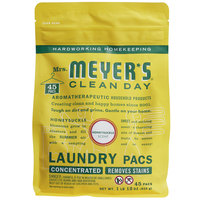 Mrs. Meyer's Clean Day 306116 Honeysuckle 45-Count Laundry Detergent Pack - 6/Case