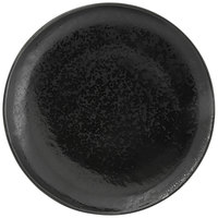 Front of the House DOS029BKP22 Kiln 11 inch Pepper Round Porcelain Plate - 6/Case