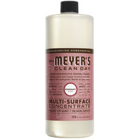 Mrs. Meyer's 663150 Clean Day 32 oz. Rosemary All Purpose Multi-Surface Cleaner Concentrate - 6/Case