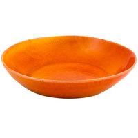 Front of the House DBO144ORP22 Kiln 34 oz. Blood Orange Round Porcelain Bowl - 6/Case