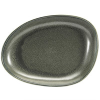 Front of the House DSP032DGP23 Kiln 8 inch x 6 inch Sage Porcelain Oval Plate - 12/Case