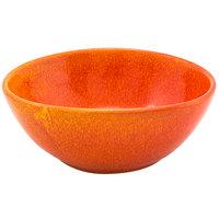 Front of the House DBO153ORP22 Kiln 28 oz. Blood Orange Oval Porcelain Bowl - 6/Case