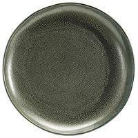 Front of the House DDP061DGP22 Kiln 10 inch Sage Round Porcelain Plate - 6/Case