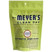 Mrs. Meyer's 651357 Clean Day 20-Count Lemon Verbena Dishwasher Pac - 6/Case