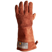 Outset® 15 inch High Heat Brown Leather Oven / Grill Gloves