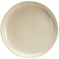 Front of the House DDP061MUP22 Kiln 10 inch Mushroom Round Porcelain Plate - 6/Case