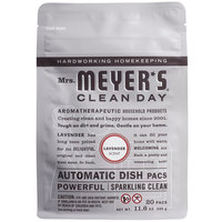 Mrs. Meyer's 306685 Clean Day 20-Count Lavender Dishwasher Pac - 6/Case