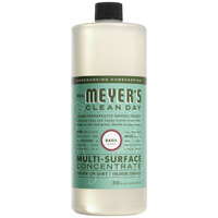 Mrs. Meyer's 663052 Clean Day 32 oz. Basil All Purpose Multi-Surface Cleaner Concentrate - 6/Case