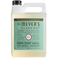Mrs. Meyer's Clean Day 304833 48 oz. Basil Scented Dish Soap Refill - 6/Case
