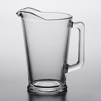 Arcoroc C0678 60 oz. Glass Beer Pitcher with Pour Lip by Arc Cardinal - 6/Case