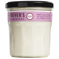Mrs. Meyer's 316562 Clean Day 4.9 oz. Peony Scented Wax Candle - 6/Case