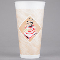 Dart 20X16G 20 oz. Customizable Espresso Foam Cup - 500/Case