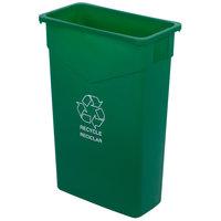 Carlisle 342023REC09 Trimline 23 Gallon Green Slim Recycle Bin