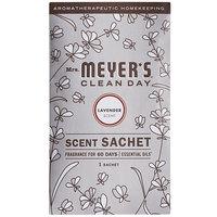 Mrs. Meyer's 308115 Clean Day Lavender Deodorizing Scent Sachet - 18/Case