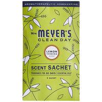Mrs. Meyer's 308114 Clean Day Lemon Verbena Deodorizing Scent Sachet - 18/Case