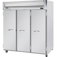 Beverage-Air HFS3-5S Horizon Series 78 inch Solid Door Reach-In Freezer with Stainless Steel Interior