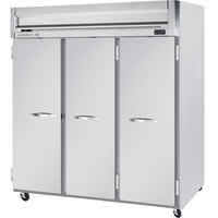 Beverage-Air HFS3-5S Horizon Series 78 inch Solid Door Reach-In Freezer with Stainless Steel Interior