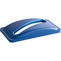 Carlisle 342026REC14 Trimline Blue Recycling Bin Lid with Paper Slot