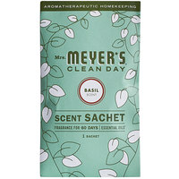 Mrs. Meyer's Clean Day 308116 Basil Deodorizing Scent Sachet - 18/Case
