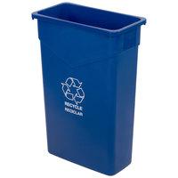 Carlisle 342023REC14 Trimline 23 Gallon Blue Slim Recycle Bin