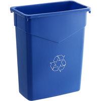 Carlisle 342015REC14 Trimline 15 Gallon Blue Slim Recycle Bin