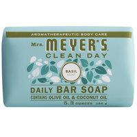 Mrs. Meyer's 663376 5.3 oz. Basil Soap Bar - 12/Case