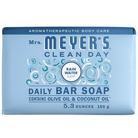 Mrs. Meyer's Clean Day 308456 5.3 oz. Rainwater Soap Bar - 12/Case