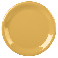 Carlisle 3300422 Sierrus 9 inch Honey Yellow Narrow Rim Melamine Plate - 24/Case