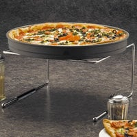 American Metalcraft 1900312 12 inch x 12 inch x 7 inch Chrome-Plated Universal Pizza Stand