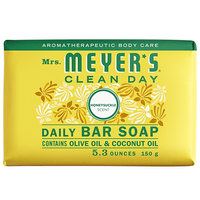 Mrs. Meyer's Clean Day 688235 5.3 oz. Honeysuckle Soap Bar - 12/Case