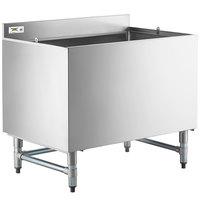 Regency 24 inch x 36 inch Stainless Steel Beer Box with 3 inch Backsplash - 20 3/4 inch x 33 3/4 inch x 18 inch Bowl