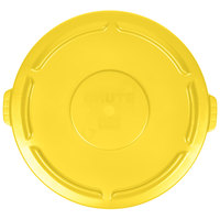 Rubbermaid FG265400YEL BRUTE Yellow 55 Gallon Trash Can Lid