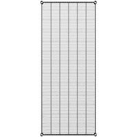 Regency 30 inch x 72 inch NSF Black Epoxy Wire Shelf