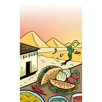 8 1/2 inch x 14 inch Menu Paper - Southwest Themed Taco Design Cover - 100/Pack