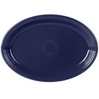Fiesta Tableware from Steelite International HL968105 Cobalt Blue 19 1/4 inch x 13 1/2 inch Oval Extra Large China Serving Platter - 2/Case
