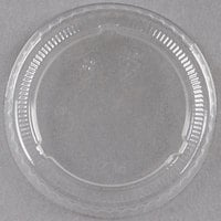 Choice PET Plastic Lid for 2 oz. Souffle Cup / Portion Cup - 125/Pack