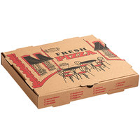 Choice 14 inch x 14 inch x 1 3/4 inch Kraft Corrugated Pizza Box - 50/Case