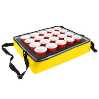 Sterno Yellow Customizable Stadium Insulated Drink Holder / Carrier, 24 inch x 20 inch x 6 inch - Holds 20 Cups