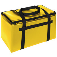 Sterno Customizable Yellow Space Saver Delivery 3XL Insulated Food Carrier, 22 inch x 13 inch x 14 inch - Holds (8) 9 inch x 9 inch x 3 inch Meal Containers