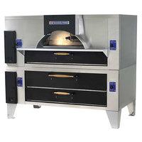 Bakers Pride FC-816/Y-800BL Brick Lined IL Forno Classico Natural Gas Double Deck Oven - 66 inch