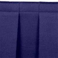National Public Seating SB32-36 Navy Box Stage Skirt for 32 inch Stage - 36 inch Long